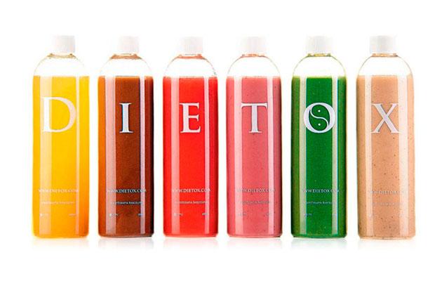 Los zumos de Dietox tienen un aspecto bastante apetitoso...
