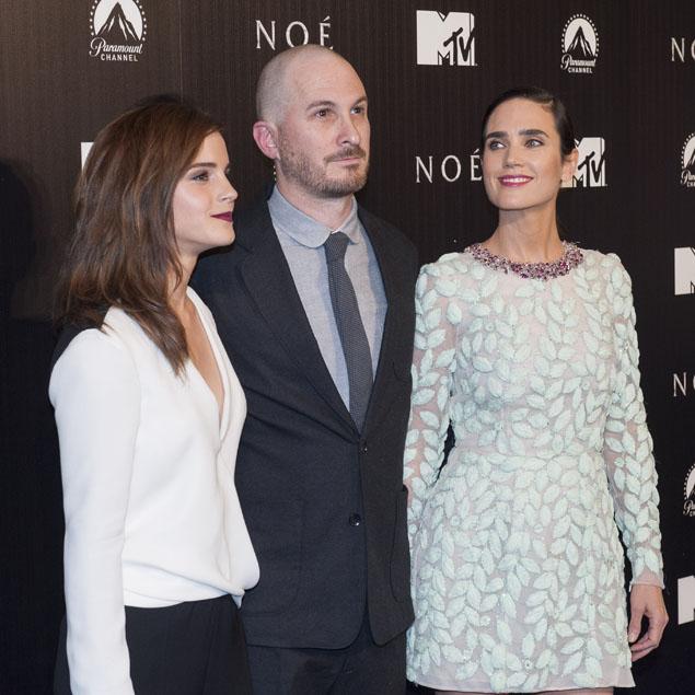 Darren Aronofsky, custodiado por Watson y Connelly en Madrid. Foto: Getty